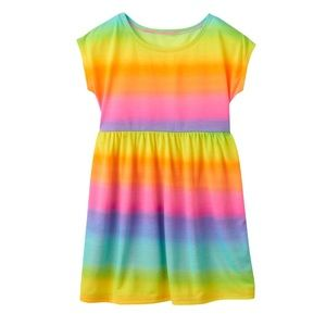 Girls rainbow swim dress cover-up size 10